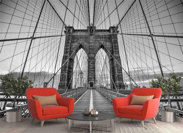 A Walk on the Brooklyn Bridge 12' x 8' (3,66m x 2,44m)