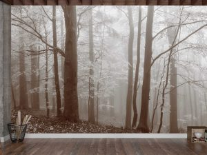 Autumn Morning in the Fog (Sepia) 12' x 8' (3,66m x 2,44m)