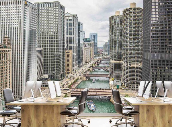 Chicago River 12' x 8' (3,66m x 2,44m)