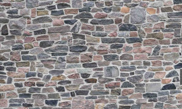 Multicolored Old Stone Wall 15' x 9' (4,57m x 2,75m)