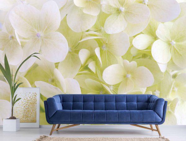 Hydrangea Flowers 12' x 8' (3,66m x 2,44m)