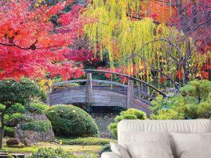 Wooden Bridge in a Japanese Garden 6' x 9' (1,83m x 2,75m)