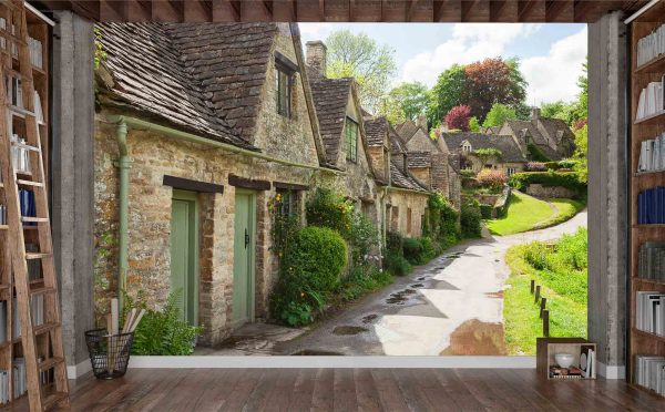 Bibury Cottages in the Cotswold Hills, South West of England 12' x 8' (3,66m x 2,44m)
