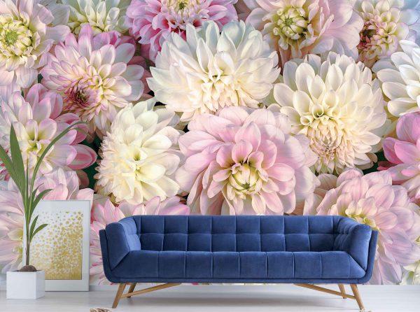 Dahlia Flowers 12' x 9' (3,66m x 2,75m)
