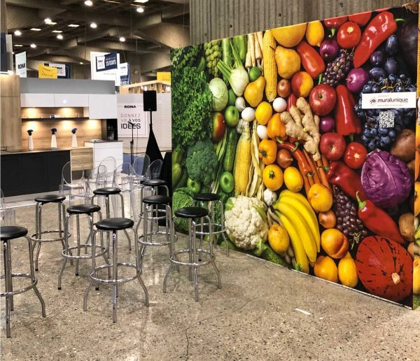 Rainbow of Fruits and Vegetables 12' x 8' (3,66m x 2,44m)
