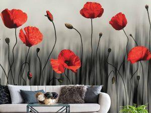 Poppy Art 9' x 8' (2,75m x 2,44m)