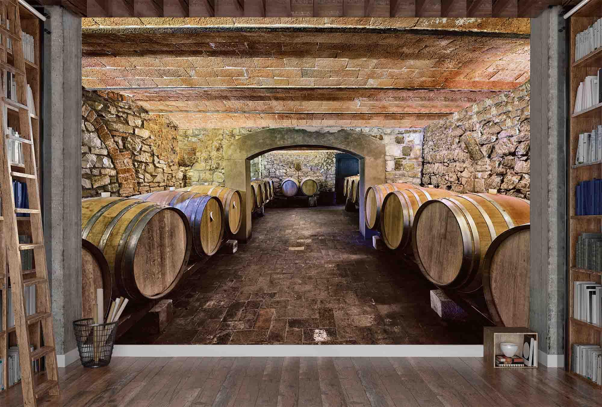 Wallpaper Mural Wine Cellar Chianti Region Muralunique