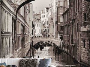 Bridge of Sighs, Venice (Sepia) 6' x 9' (1,83m x 2,75m)
