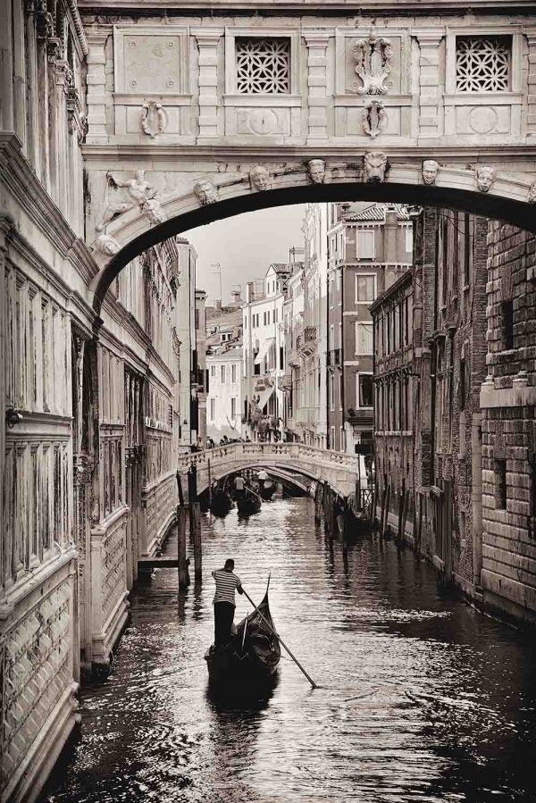 Bridge of Sighs, Venice (Sepia) 6' x 9' (1,83m x 2,75m)