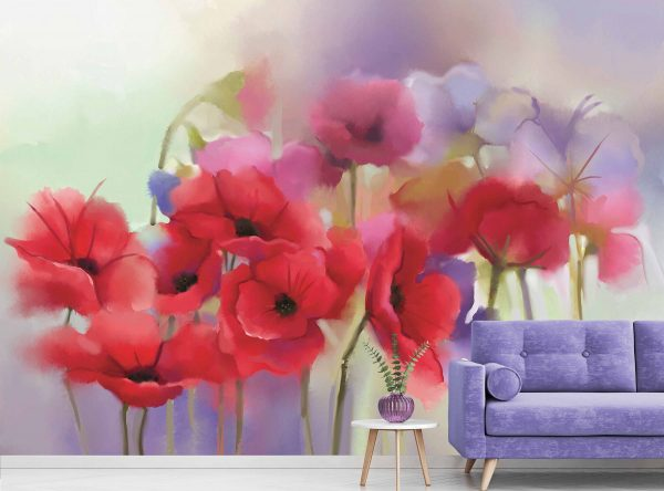 Watercolor Flower Bouquet 10.5' x 8' (3,20m x 2,44m)
