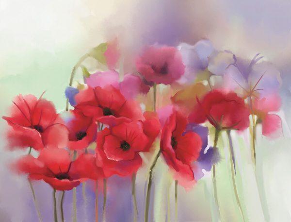 Watercolor Flower Bouquet 10.5' x 8' (3,20m x 2,44m)