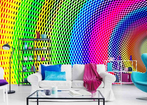 Abstract Multicolored Gradient 12' x 8' (3,66m x 2,44m)