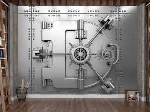 Bank Vault Steel Door 10.5' x 8' (3,20m x 2,44m)