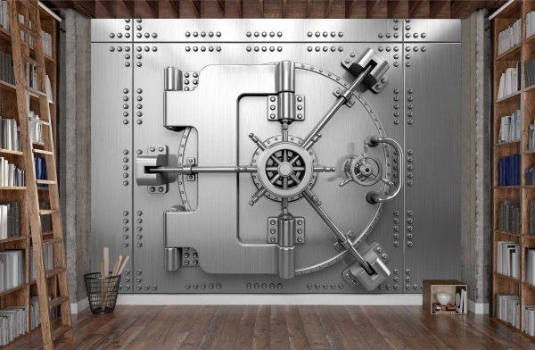 Bank Vault Steel Door 10.5' x 8' (3,20m x 2,44m)