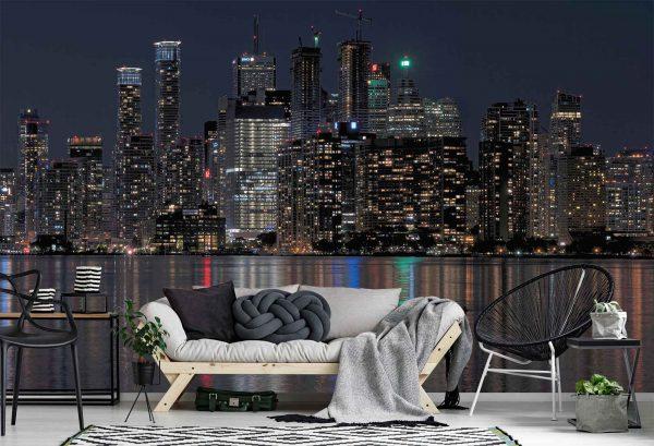 Downtown Toronto at Night 15' x 9' (4,57m x 2,75m)