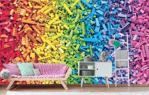 Rainbow Toy Blocks 13.5' x 8' (4,11m x 2,44m)