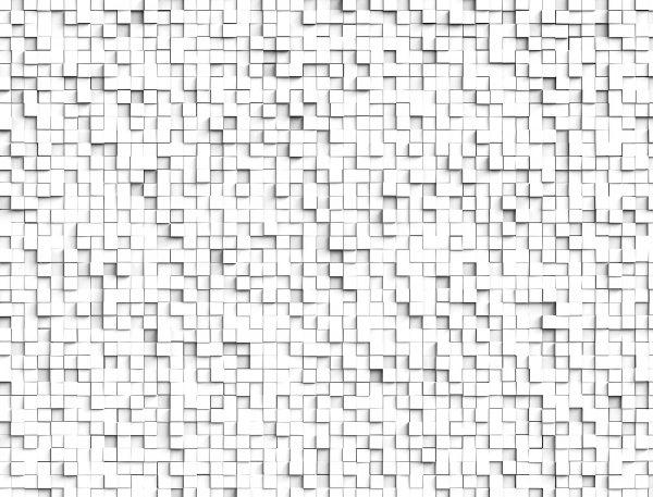 White 3D Cubes 10.5' x 8' (3,20m x 2,44m)