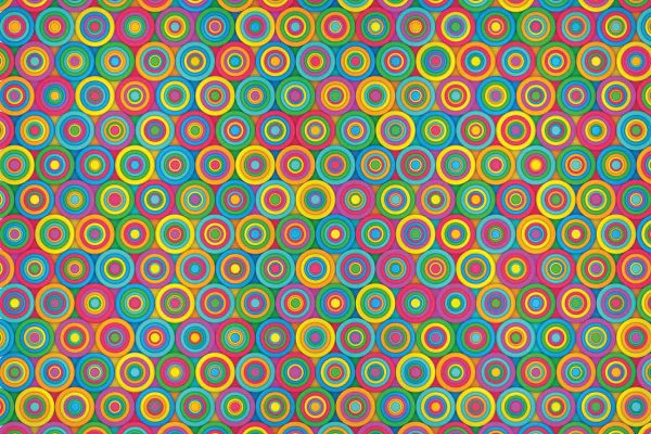 Colored Circles 12' x 8' (3,66m x 2,44m)