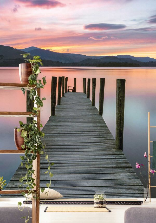 Dock on a Lake at Sunset 6' x 8' (1,83m x 2,44m)