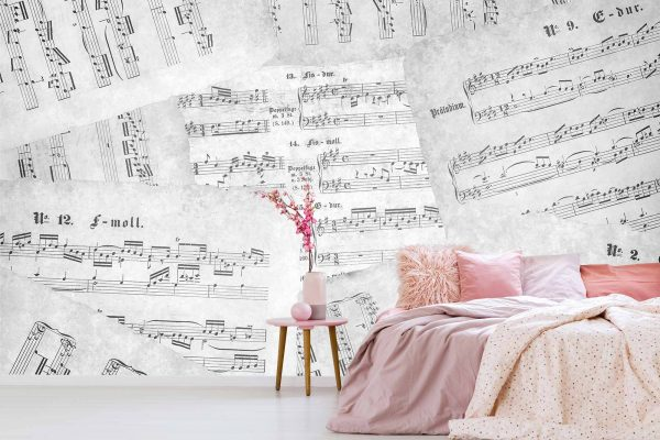 Music Sheets (Black and White) 12' x 8' (3,66m x 2,44m)
