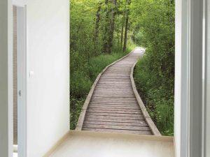 Boardwalk in the Bog 6' x 9' (1,83m x 2,75m)