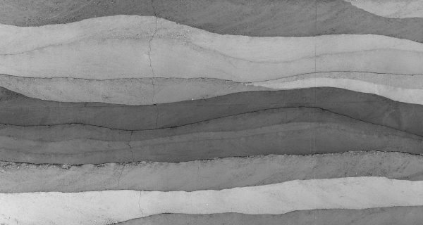 Concrete Layers (Black and White) 15' x 8' (4,57m x 2,44m)