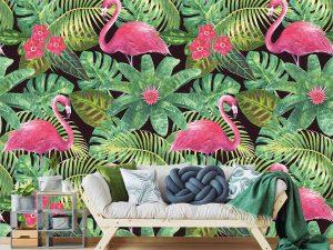 Pink Flamingos 9' x 9' (2,75m x 2,75m)