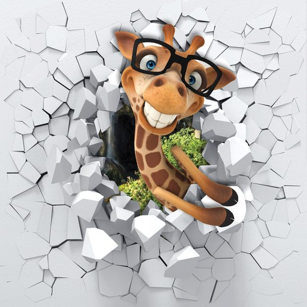 Funny Giraffe 9' x 9' (2,75m x 2,75m)