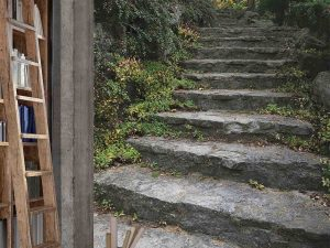 Stone Staircase in a Forest 6' x 9' (1,83m x 2,75m)
