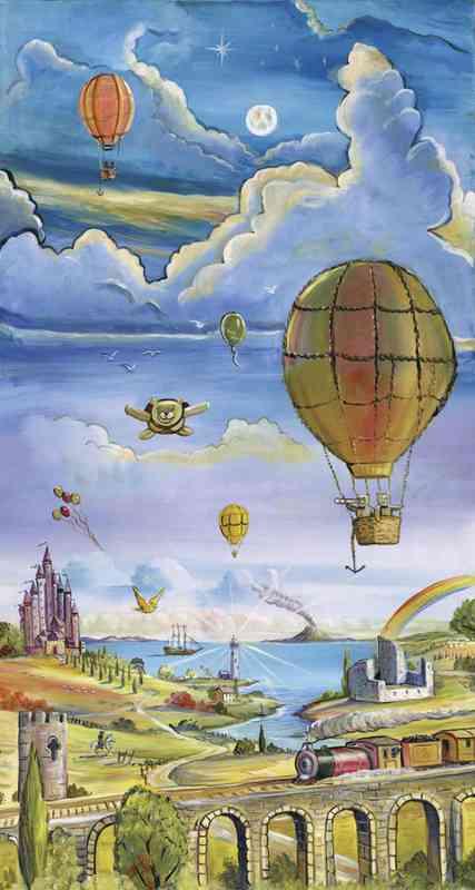 Hot Air Balloons 4.5' x 8' (1,37m x 2,44m)