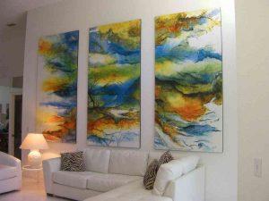 Triptych (3 murals of 4' x 8' (1,22m x 2,44m))