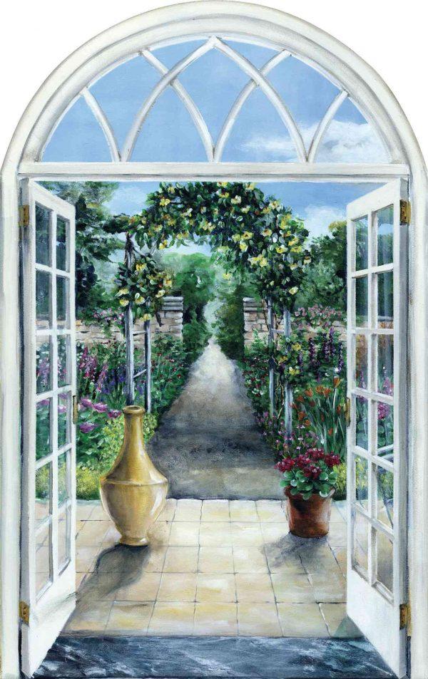 Door to the Garden 4.5' x 7.15' (1,37m x 2,18m)