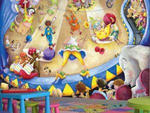 Leonard at the Circus 10.5' x 8' (3,20m x 2,44m)