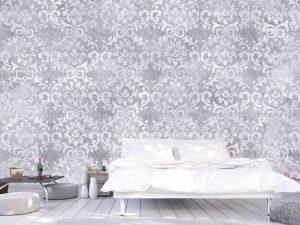 Faux Damask Lilac  12' x 8' (3,66m x 2,44m)