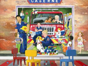 Fire Station (French Version) 10.5' x 8' (3,20m x 2,44m)