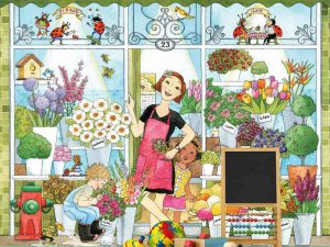 Miss Polka Dots Florist (French Version) 9' x 8' (2,75m x 2,44m)