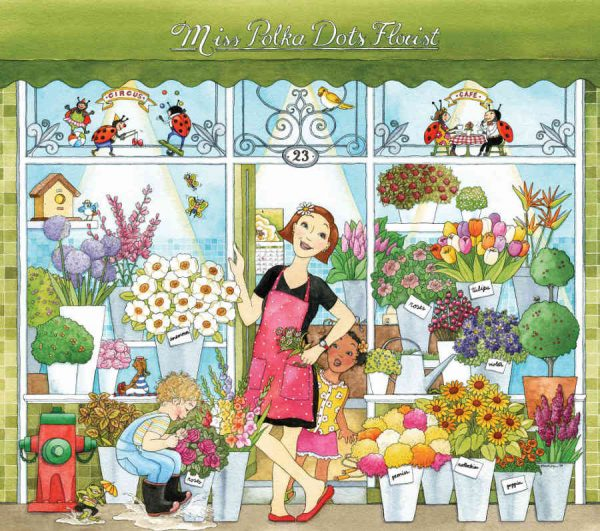 Miss Polka Dots Florist (English Version) 9' x 8' (2,75m x 2,44m)