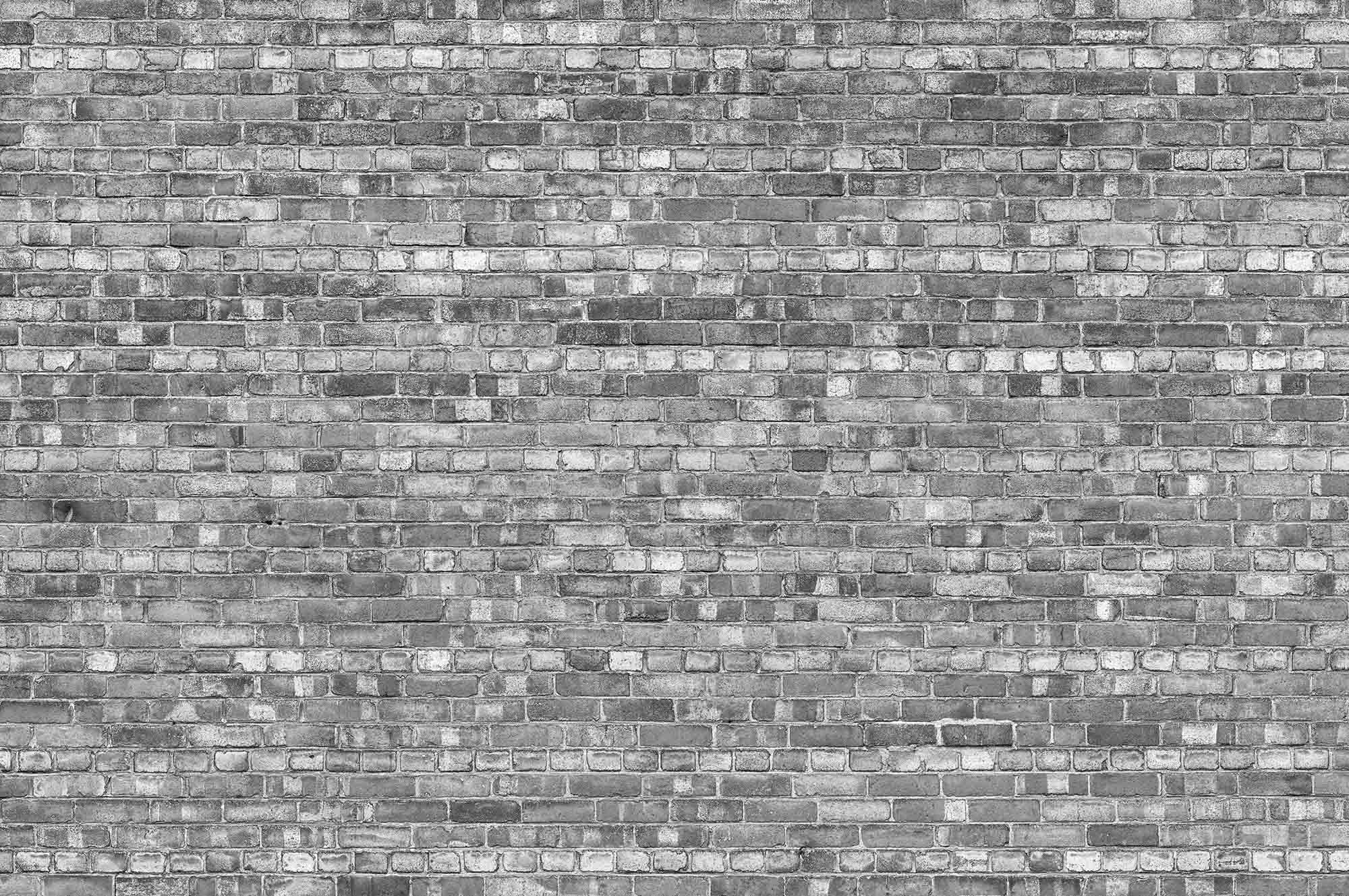 Wallpaper Mural Old Brick Wall Black And White Muralunique