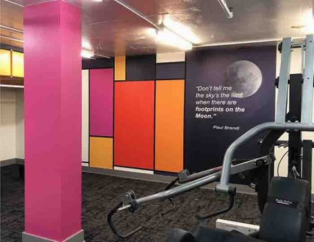 Murale sur Mesure dans un Gym à Saskatoon